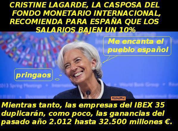 Resultado de imagen de El Fondo Monetario Internacional es dirigido por una corrupta