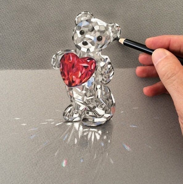 03-Teddy-with-a-Heart-Leonardo-Pereznieto-Swarovski-Crystal-Drawings-www-designstack-co