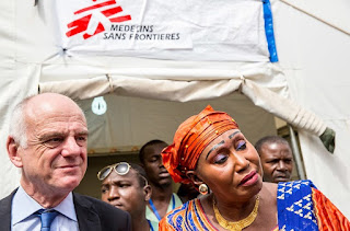 Doctors Without Borders Ebola Donka National Hospital in Conakry, Guinea Africa