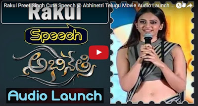 Rakul Preet Singh Cute Speech @ Abhinetri Telugu Movie Audio Launch