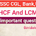 [Most important]- LCM and HCF question in Hindi- 2019 PDF file and tricks