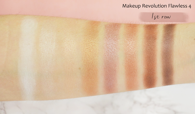 Revolution Flawless 4 Eyeshadow Palette Swatches