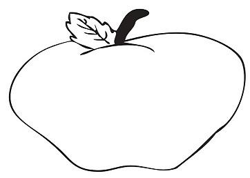 تلوين تفاحه