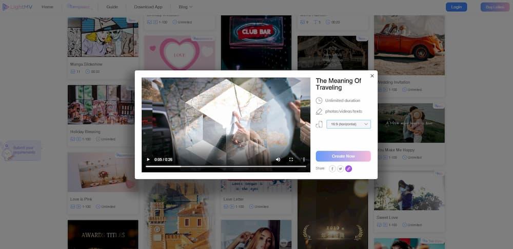 لقطة شاشة لطريقة تصميم فيديو اونلاين و تصميم فيديو للاندرويد