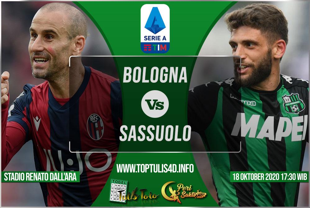 Prediksi Bologna vs Sassuolo 18 Oktober 2020