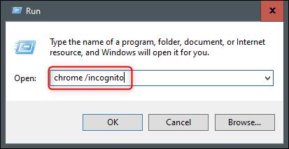 تشغيل الكروم في وضع التصفح المتخفي من تشغيل