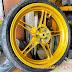 Mẫu sơn bánh mâm xe  Exciter 150  màu vàng candy cực đẹp
