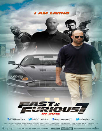Poster Of Furious 7 2015 Dual Audio 650MB EXTENDED BRRip 720p ESubs HEVC Free Download Watch Online downloadhub.net