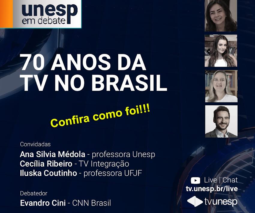 Live: 70 anos da televisão no Brasil