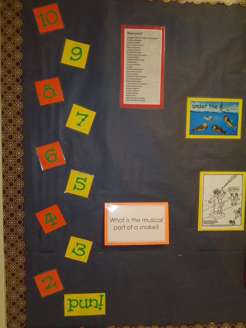 Have a punny new year musical bulletin board for elementary orchestra