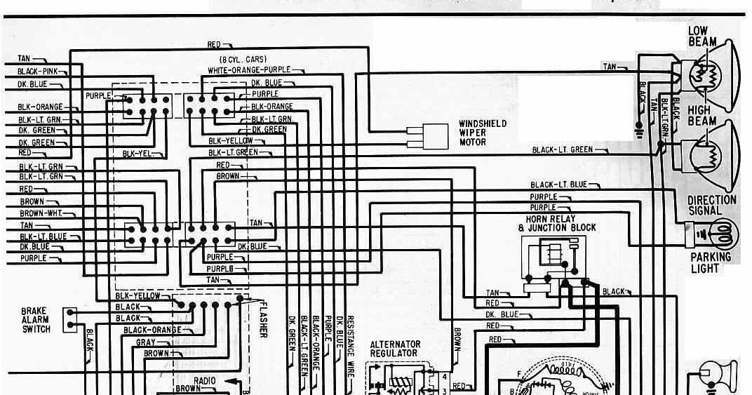 electrical wiring diagram of 1964 chevrolet 6 and v8 all about wiring diagrams. Black Bedroom Furniture Sets. Home Design Ideas