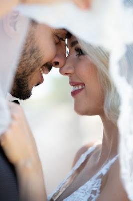 close photo of bride smiling