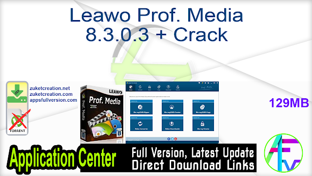 Leawo Prof. Media 8.3.0.3 + Crack