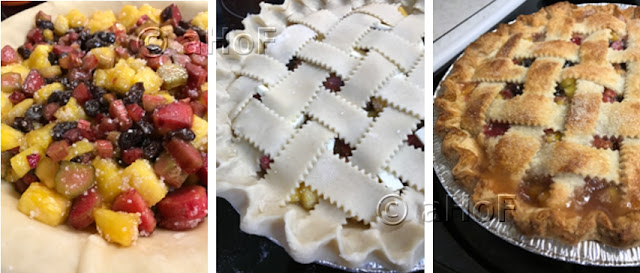 Filling - Lattice Top in place - Baked Pie