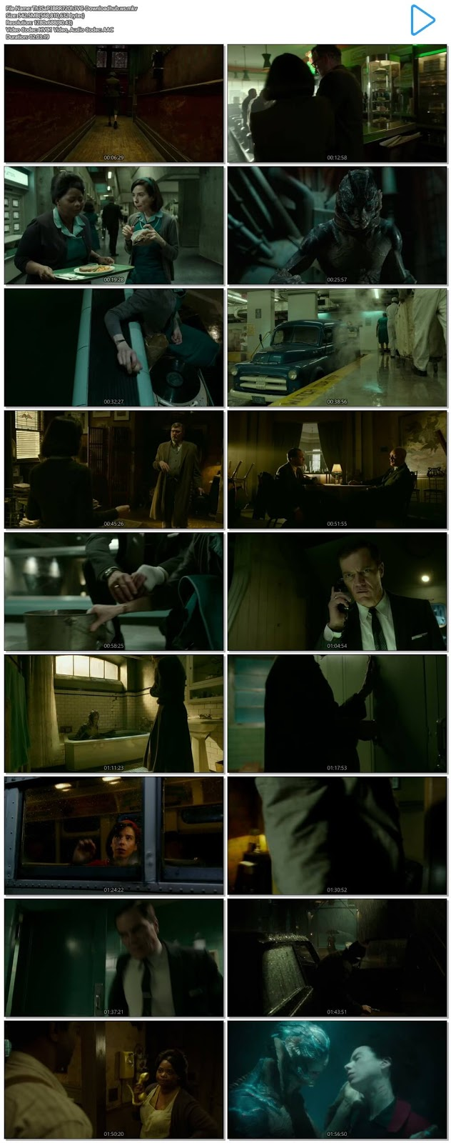 The Shape of Water 2017 English 720p HEVC BRRip ESubs