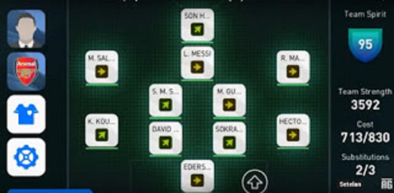 pes mobile best formation
