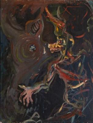 Lechón (reverso de autorretrato), Yoryi Morel, 1955