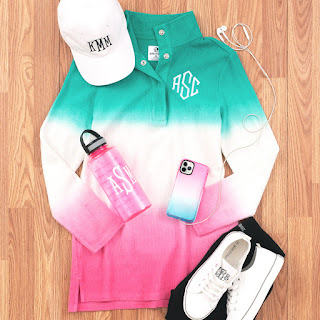 Monogrammed Corded Pullover