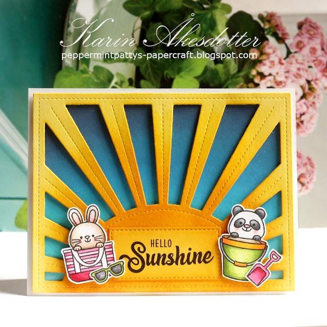 Sunny Studio Stamps: Beach Buddies Customer Card by Karin Akesdotter