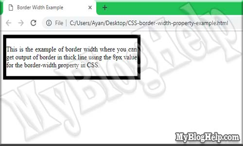 CSS-border-width-property-example
