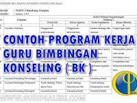 Contoh Program Kerja Guru Bimbingan Konseling ( BK ) Kurikulum 2013 Lengkap