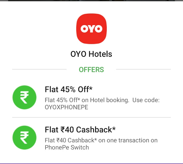 45%off on OYO hotels