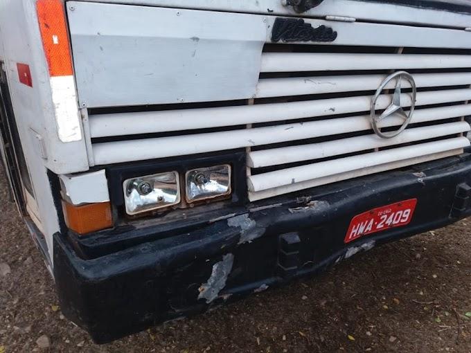 Ônibus Escolar que faz o translado para a Escola Alexandre de Carvalho em Senador Sá envolve-se  em acidente com moto. Confira!