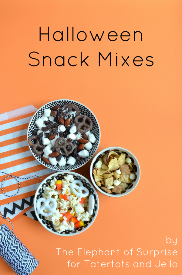 Three Fall and Halloween Snack Mixes to make! These snack mixes will be loved by kids and adults alike! The perfect snack.