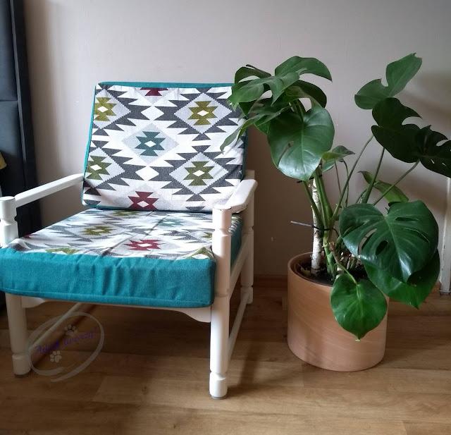 Renowacja drewnianego fotela z czasów PRL - Adzik tworzy