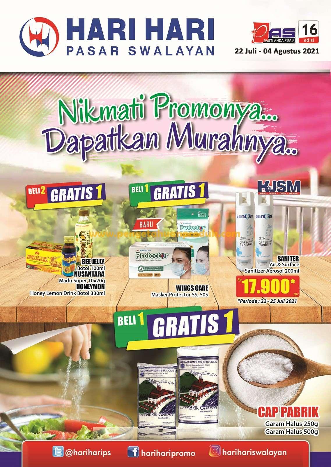 Katalog Promo Hari Hari Pasar Swalayan 22 Juli - 4 Agustus 2021