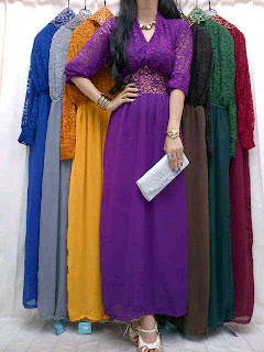 Maxi Brukat Sifon + Obi fit to L