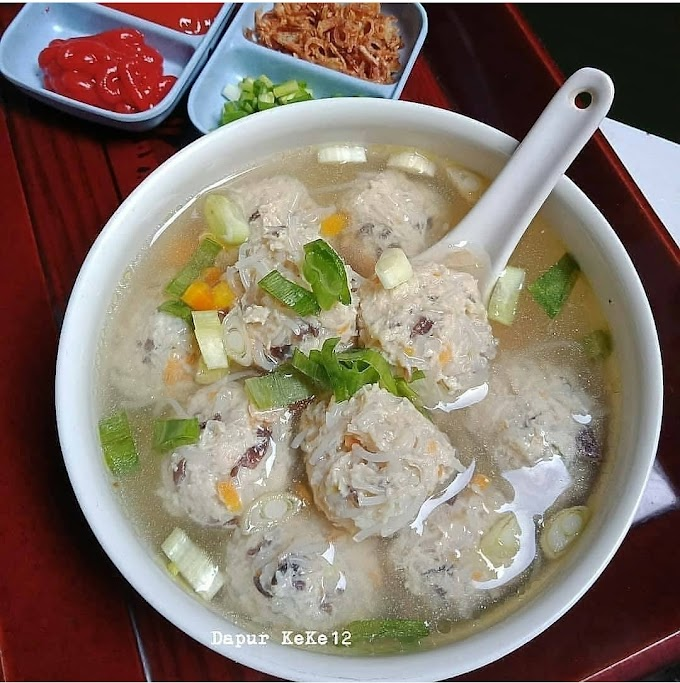 Resep Spesial Favorit Bakso Ayam Jamur