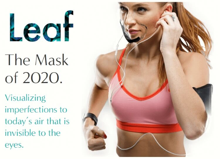 """LEAF"" World's First Fully Transparent Mask Featured FDA, UV-C, N99"