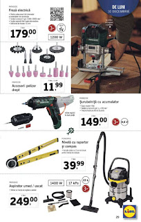 CATALOG LIDL 10 - 16 decembrie 2018 scule Parkside