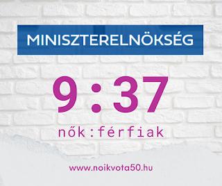 A Miniszterelnökség vezetői között 9:37 a nők és férfiak aránya #KORM40
