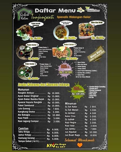 daftar menu makanan dan minuman di GKT