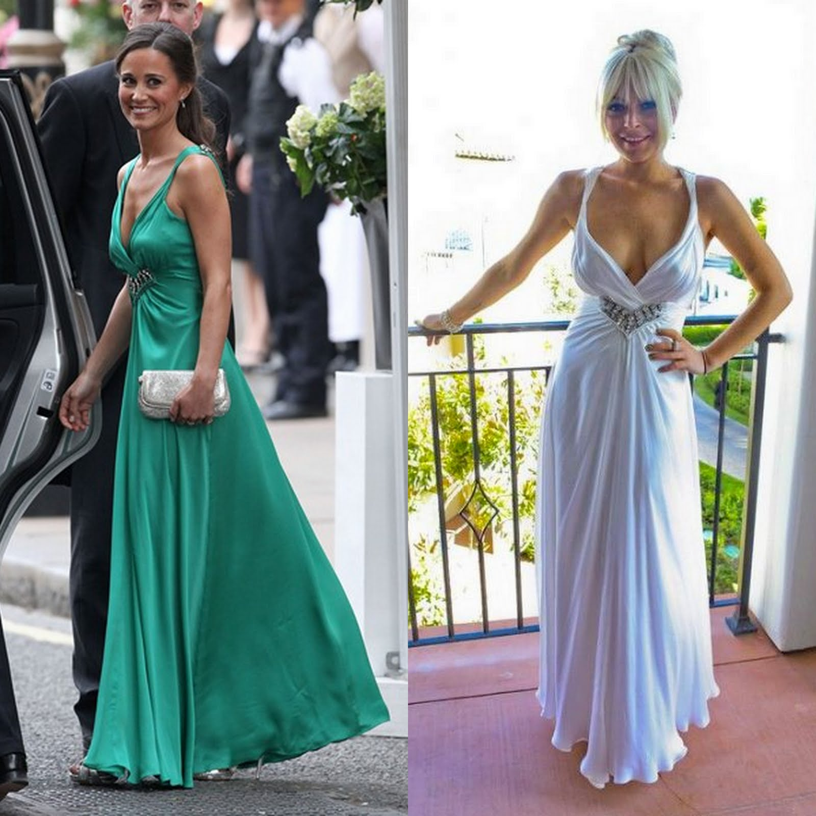 Pippa Middleton Wedding Reception Dress: Pippa Middleton Green Evening Dress