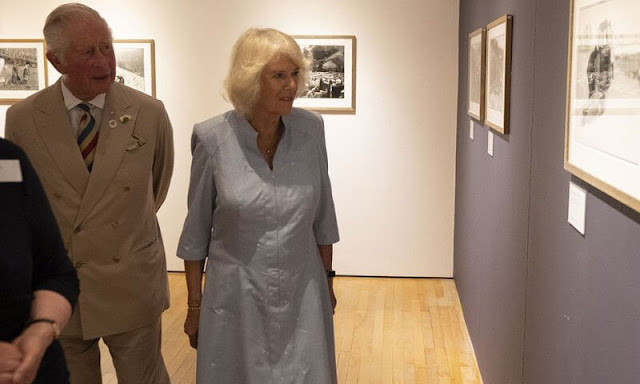 Prince of Wales and The Duchess of Cornwall visited Burton Art Gallery at Victoria Park in Bideford