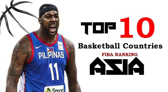 TOP 10 Basketball Countries ASIA - FIBA Ranking
