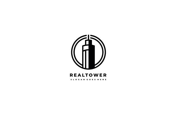 Real Tower - Real Estate Logo Building Design