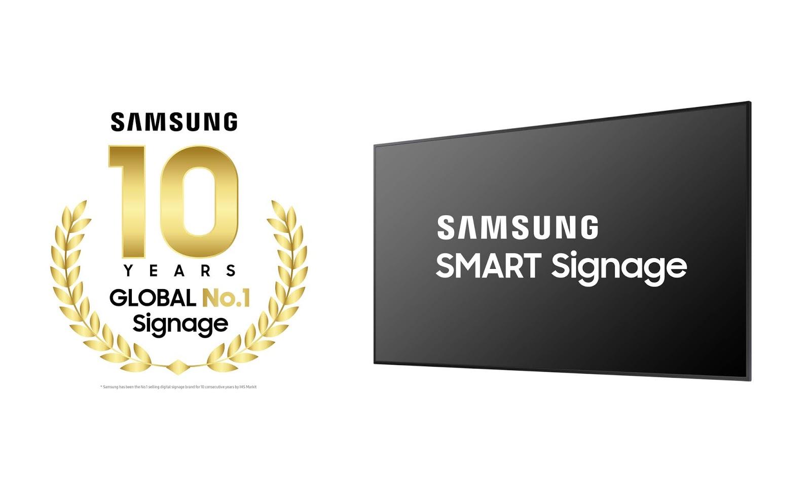 Samsung: una década como líder mundial en señalización digital