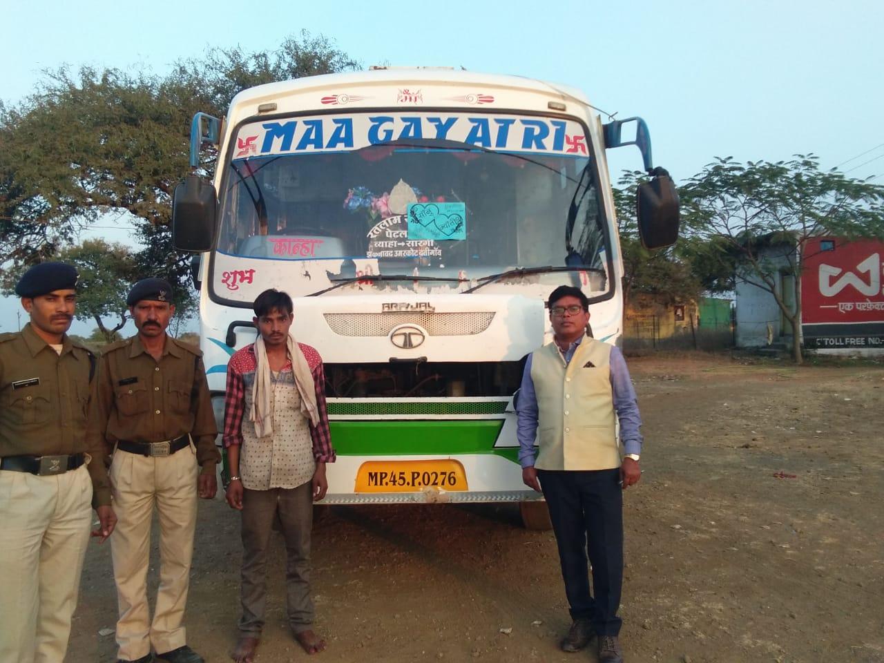Jhabua News-परिवहन विभाग की बडी कार्रवाई, तीन बसो सहित पांच वाहन जप्त
