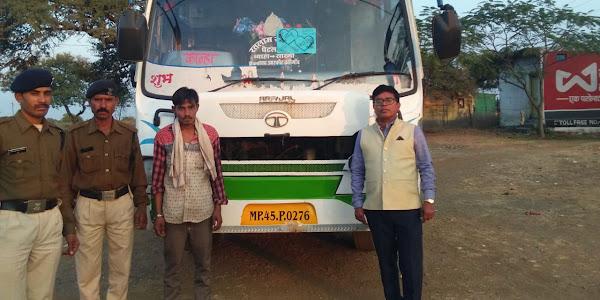 परिवहन विभाग की बडी कार्रवाई, तीन बसो सहित पांच वाहन जप्त