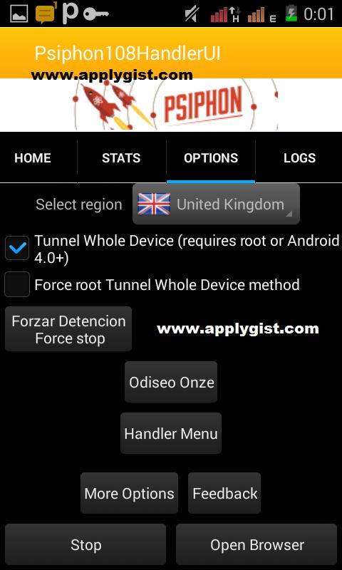 Latest Psiphon Handler V108 Settings For mtn