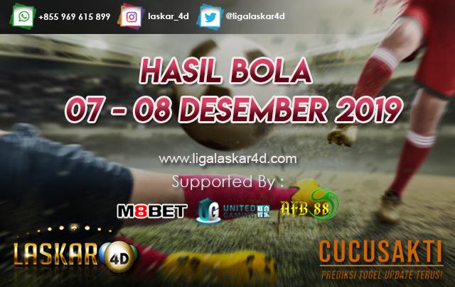 HASIL BOLA JITU TANGGAL  07 – 08 Desember 2019