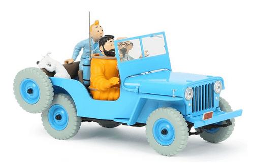 la jeep bleue 1:24 objectif lune, les voitures de tintín 1/24e, Les voitures de Tintín 1/24 hachette, tintin collection voitures 1/24, tintin collection voitures 1/24 hachette, collection tintin voitures miniatures, tintin collection voitures hachette