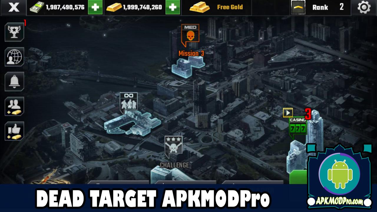 Download Dead Target MOD APK 4.31.1.2 (Unlimited Money) Terbaru 2020