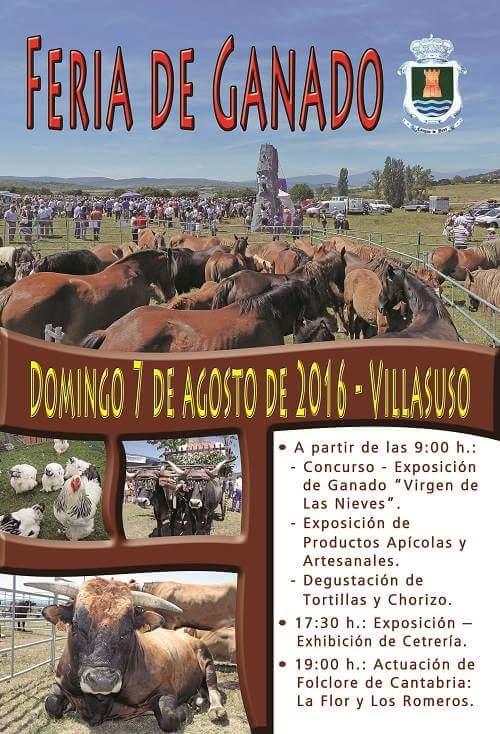 Feria de ganado 2016  en Villasuso