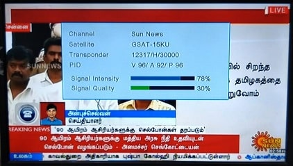 Sun News temp free to air from Sun Direct