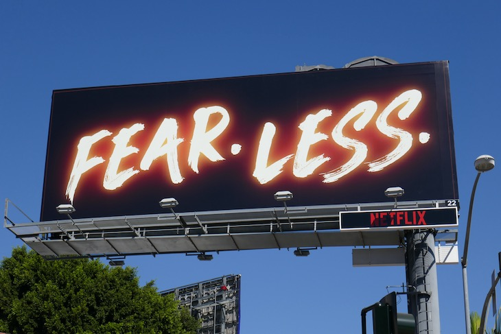 Fear Less Hubie Halloween movie billboard